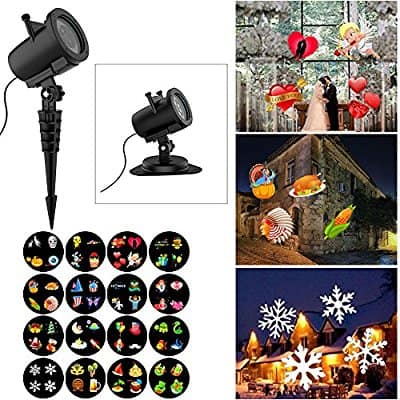 Buy Christmas Projector Lights, 16 Slides Waterproof IP65 Outdoor Landscape 6W Motion LED