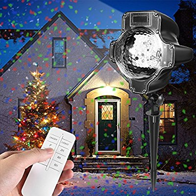 Buy Christmas Projector Lights, Womsky Rotating IP65 Waterproof Sparkling