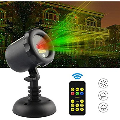 Buy Srocker Garden Laser Light Christmas Projector Lights with remote Moving Red and Green firefly