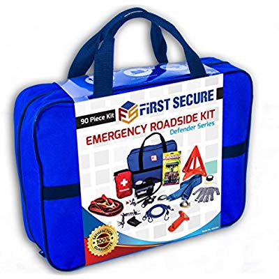 Buy First Secure 90-Piece Roadside Emergency Car Kit