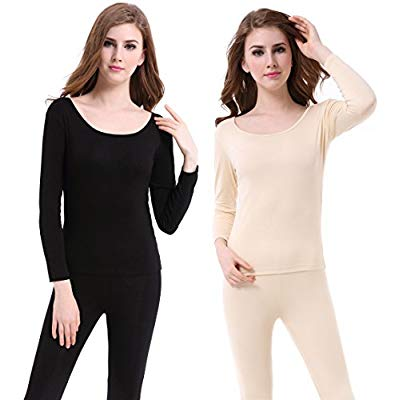 Buy CnlanRow Thermal Underwear Women Long - Scoop Neck Ultra