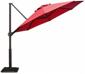 Abba Patio Offset Cantilever Umbrella 11-Feet Outdoor Patio Hanging Umbrella