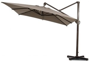 Abba Patio Offset Patio Umbrella 10-Feet Hanging Rectangular Cantilever Umbrella with Cross Base and Umbrella Cover