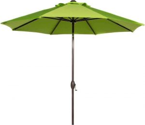 Abba Patio Sunbrella Patio Umbrella 9 Feet Outdoor Market Table Umbrella with Auto Tilt and Crank, Canvas Macaw