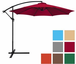 TopBest Choice Products 10ft Offset Hanging Outdoor Market Patio Umbrella