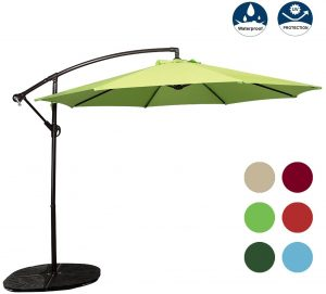 Odaof 10 Ft Outdoor Patio Offset Umbrella Cantilever Hanging Umbrella Outdoor Market Umbrella