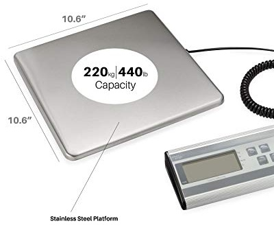 Smart Weigh Digital Heavy Duty Shipping and Postal Scale with Durable Stainless Steel Large Platform